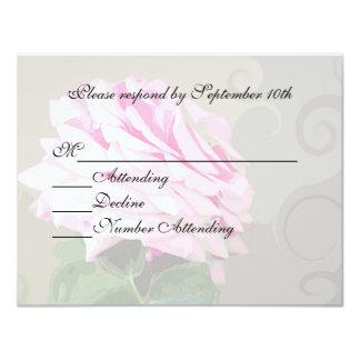 Os redemoinhos do rosa do rosa que Wedding o Convites Personalizado