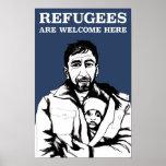 Os refugiados dão boas-vindas ao poster pôster