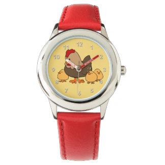 Os relógios bonitos dos miúdos das galinhas