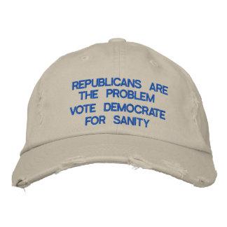Os republicanos são o problema! boné bordado