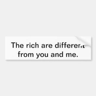 Os ricos são diferentes adesivo para carro