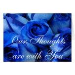 Os rosas azuis Simpatia-personalizam Cartões