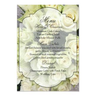 Os rosas brancos Champagne coram série do Convite 12.7 X 17.78cm