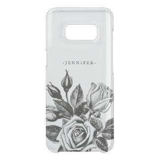 Os rosas de chá pretos do Victorian do vintage Capa Para Samsung Galaxy S8 Da Uncommon