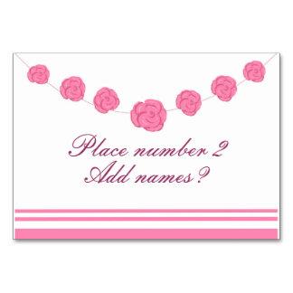 Os rosas e as listras cor-de-rosa apresentam cartõ