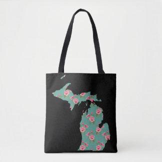 Os rosas gastos e os pontos de Michigan | Bolsa Tote