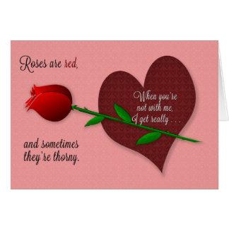 Os rosas Horny engraçados dos namorados são cartão