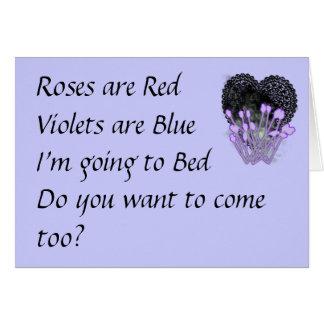 Os rosas são cartão engraçado vermelho dos