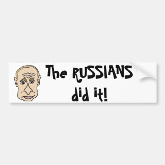 Os russos fizeram-no desenhos animados de Putin Adesivo Para Carro