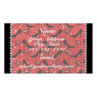 Os saltos altos vermelhos de néon conhecidos cartão de visita