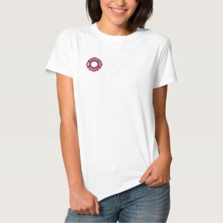 Os sapadores-bombeiros das mulheres bordaram a camiseta polo bordada feminina