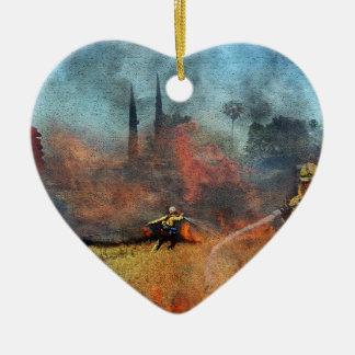 Os sapadores-bombeiros são nossos heróis ornamento de cerâmica