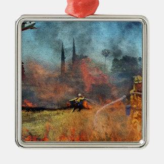 Os sapadores-bombeiros são nossos heróis ornamento de metal