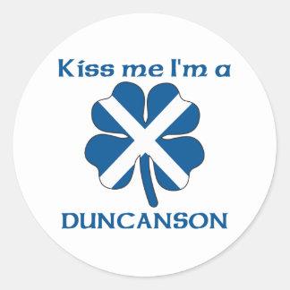 Os Scottish personalizados beijam-me que eu sou Adesivo