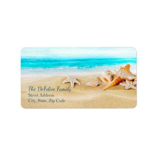 Os Seashells náuticos & encalham 2 - modelo Etiqueta De Endereço