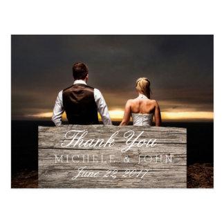 os sentimentos amam no casamento/obrigado de cartão postal