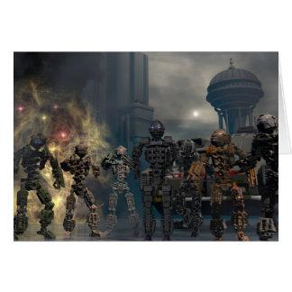 os sete robôs gloriosos b cartão comemorativo