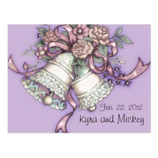 os sinos de casamento salvar o cartão da data