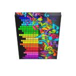 os sons coloridos do equalizador das notas da músi impressão em tela canvas