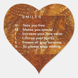 Os sorrisos são contagiosos adesivo coração