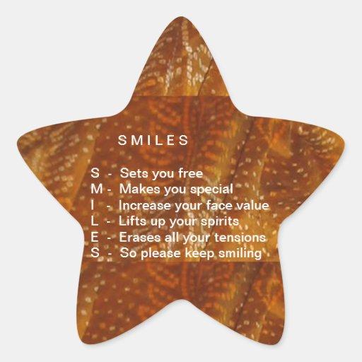 Os sorrisos são contagiosos adesivo estrela