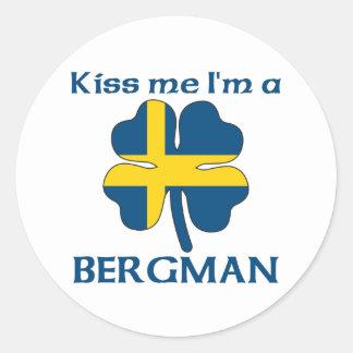 Os sueco personalizados beijam-me que eu sou adesivos redondos