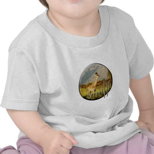 Os t-shirt das crianças do safari dos animais selv