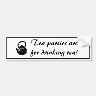 Os tea party são para o autocolante no vidro trase adesivo para carro