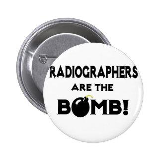 Os técnico de radiologia são a bomba! bóton redondo 5.08cm