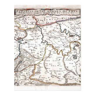 Os Terras de Mapa DAS fazem Paraíso, papai noel do Papeis De Carta Personalizados