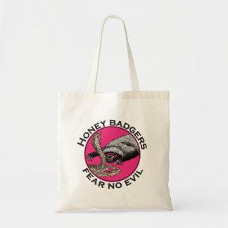 Os texugos de mel cor-de-rosa 'não temem nenhum sacola tote budget