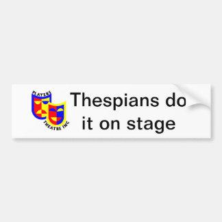 Os Thespians fazem-no no palco Adesivo Para Carro
