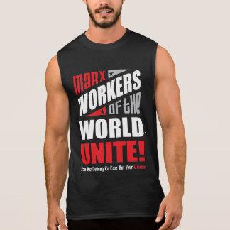 Os trabalhadores de Karl Marx do mundo unem-se Camiseta Sem Manga