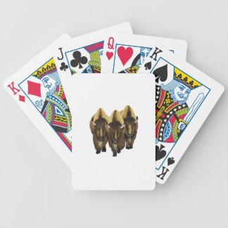 Os três amigo baralho para poker