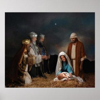 Os três homens sábios e posters do Natal de Jesus Pôster