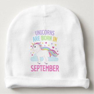 Os unicórnios são em setembro unicórnio bonito gorro para bebê