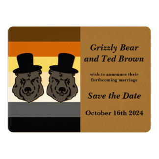 Os ursos de Baskerville salvar o cartão de Convite 16.51 X 22.22cm