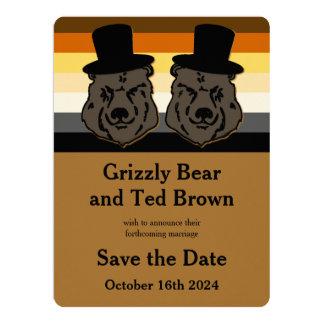 Os ursos do orgulho do urso salvar o cartão de convite 16.51 x 22.22cm