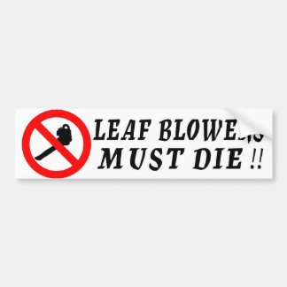 Os ventiladores de folha devem morrer! adesivo para carro