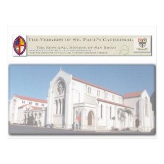 Os Vergers do cartão da catedral de St Paul Cartão Postal