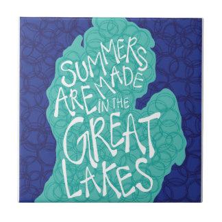 Os verões são feitos nos grandes lagos - azul