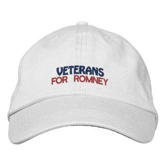 Os veteranos personalizados da eleição bordaram o boné bordado