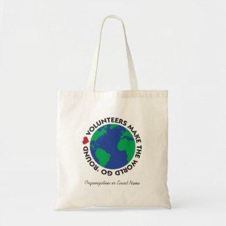 Os voluntários fazem o mundo ir 'redondo com terra bolsa tote