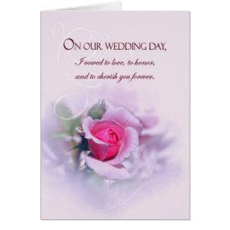 Os votos de casamento sentimentais do aniversário cartão comemorativo