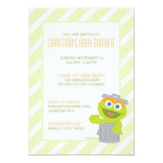 Oscar que o chá de fraldas do Grouch convida Convite 12.7 X 17.78cm