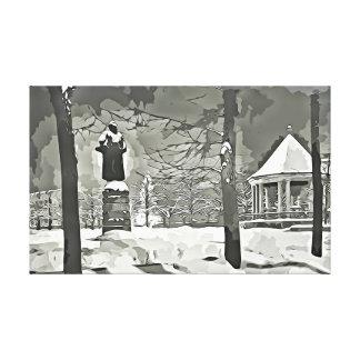 Oslo, impressão preto e branco das canvas da foto
