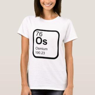 Ósmio - design da ciência da mesa periódica camiseta