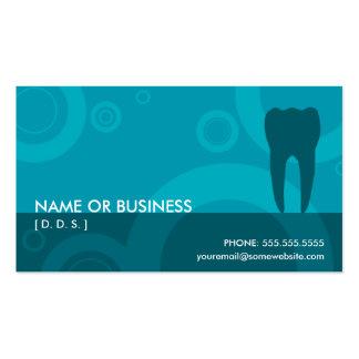 ósmio do dentista cartão de visita