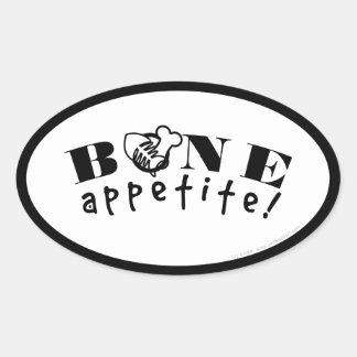 Osso Appetit! Negócio dos alimentos de animal de Adesivo Oval