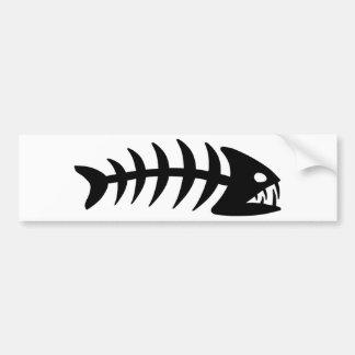 Osso de peixes do Piranha Adesivo Para Carro